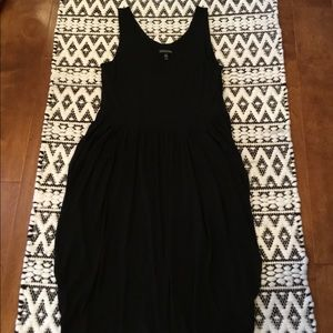 Eileen Fisher Black Silk Tank lined dress